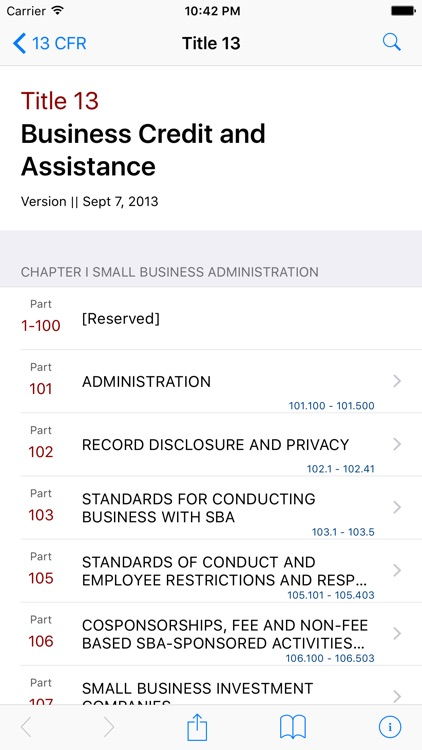 13 CFR - Business Credit and Assistance (LawStack)