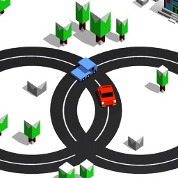 Circle car crash