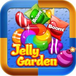 Sweet Jelly Garden Crush - Match 3 Games