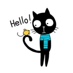 Naughty Black Cat Stickers