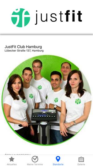 app store justfit club hamburg. Black Bedroom Furniture Sets. Home Design Ideas