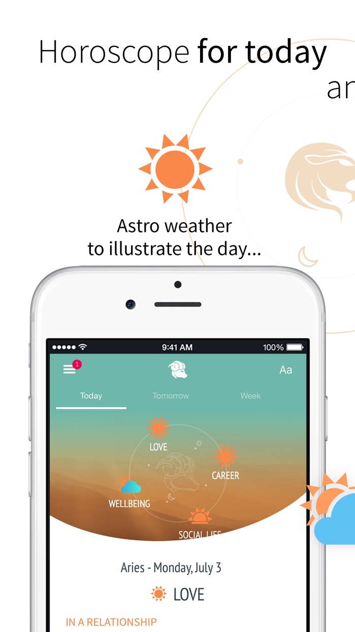 iHoroscope - Daily Horoscope Screenshot