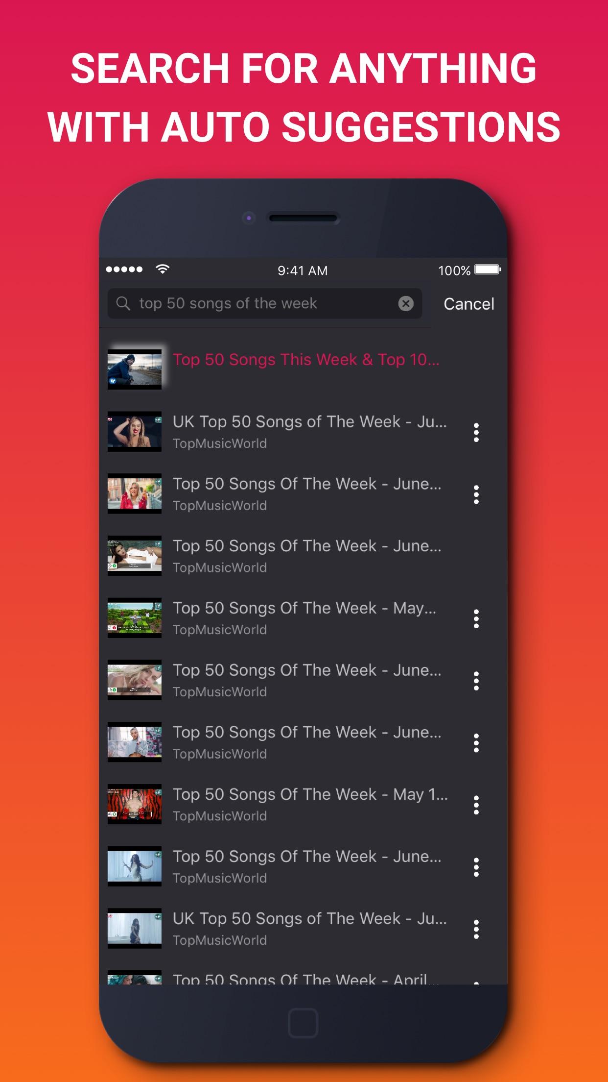 Music Tube - Music Video Streaming Screenshot