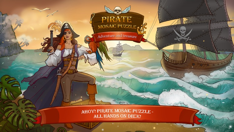 Pirate Mosaic Puzzle  Caribbean Treasures by 8Floor