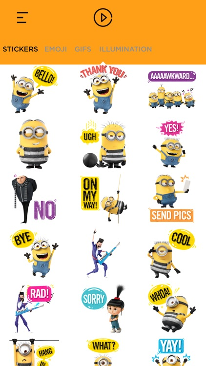 Despicable Me 3 Stickers App screenshot-3