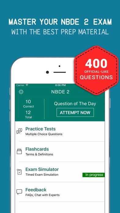 Dental Board Test Prep - NBDE 2 Practice Exam Q&A Screenshot on iOS