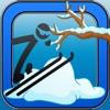 スティックマンサファリ冬のスキーエクストリームゲーム