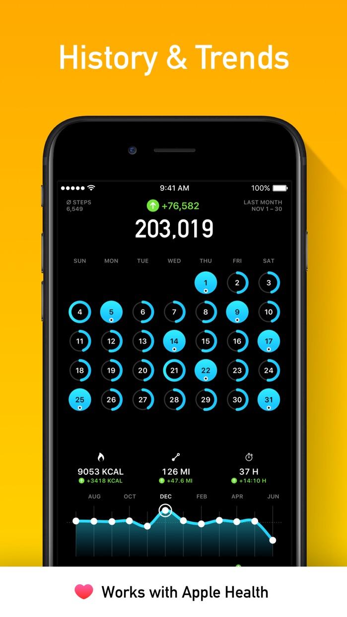 StepsApp Pedometer Screenshot