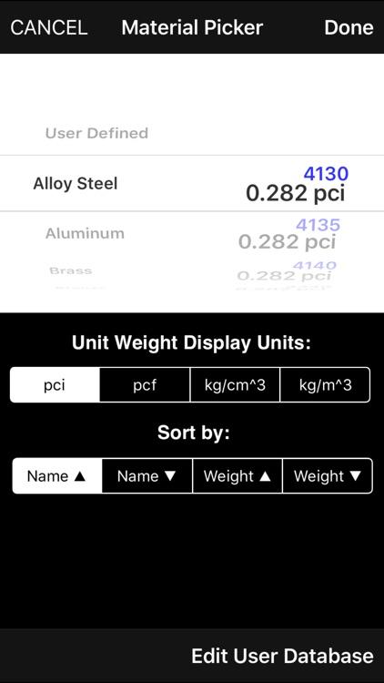 METACalculator: Section, Solid & Weight properties screenshot-3