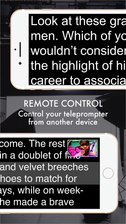 Autocue App - Professional Teleprompter with Video