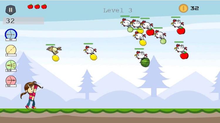 Shoot Girl's Fruits : Archery screenshot-4
