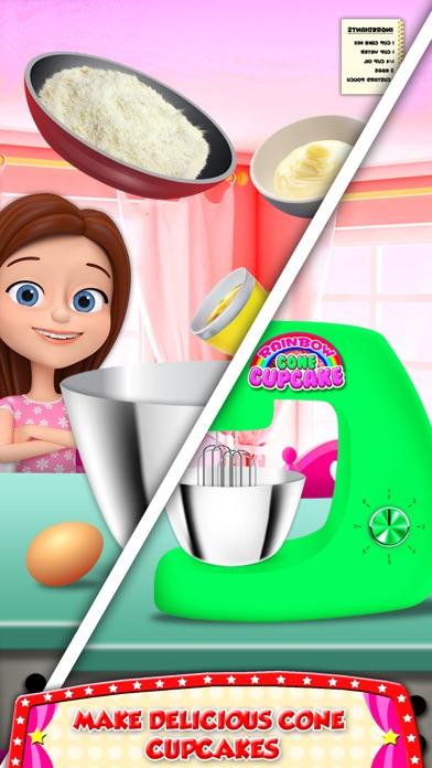 DIY Ice Cream On Cupcake! Cool Desserts Chef Game screenshot two