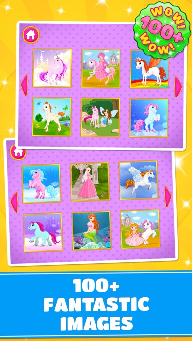 Cute Ponies & Unicorns Puzzles : Logic Game screenshot two