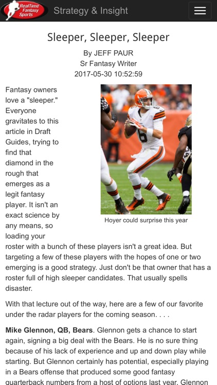 RTSports Fantasy Draft Guide screenshot-4