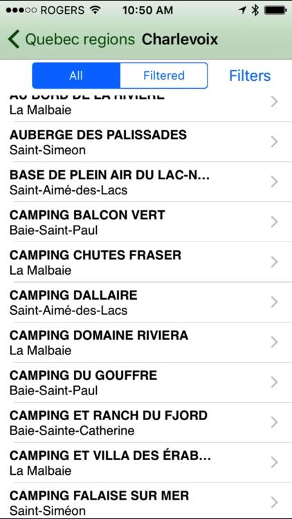 Campings in Québec screenshot-3