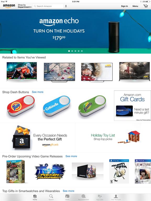 Amazon – Shopping made easy iPad