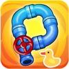 接水管解救小黄鸭:水管工人小游戏