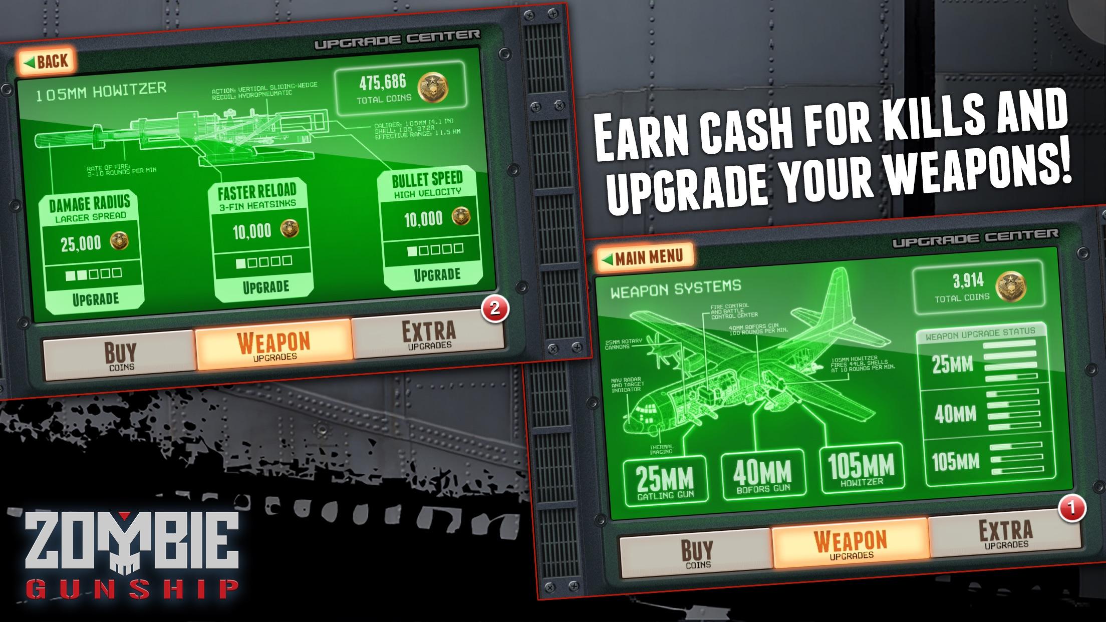Zombie Gunship: Gun Down Zombies Screenshot