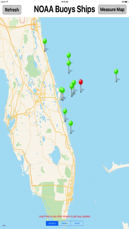 NOAA Buoys & Ships MGR screenshot-2