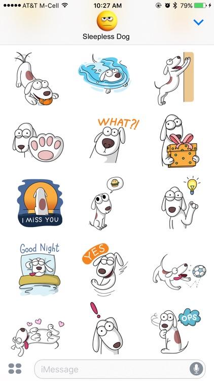 Sleepless Dog Stickers screenshot-3