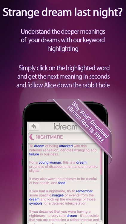 iDream - Dream Interpreter and Journal screenshot-3