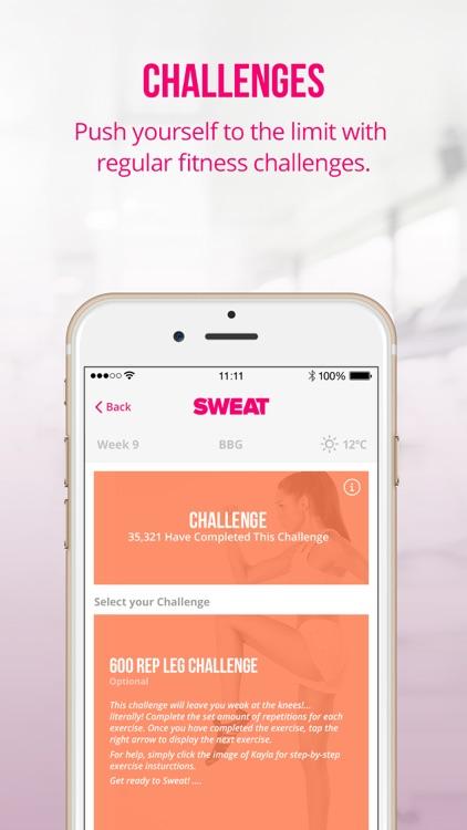 Sweat: Kayla Itsines' Bikini Body Fitness Workouts screenshot-3