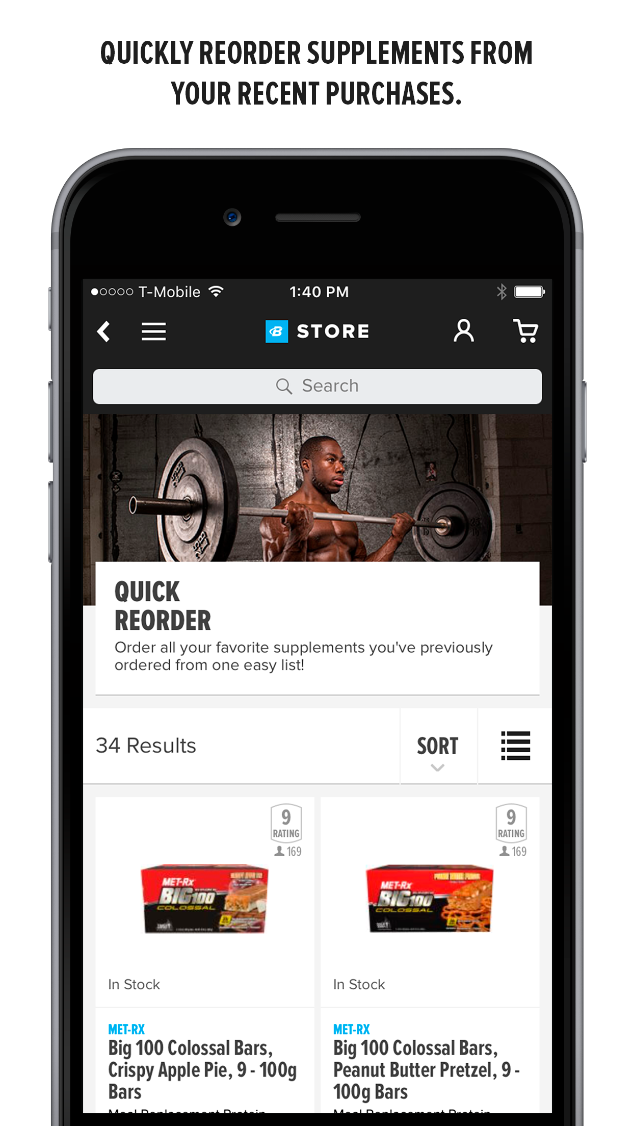 Bodybuilding.com Store Screenshot