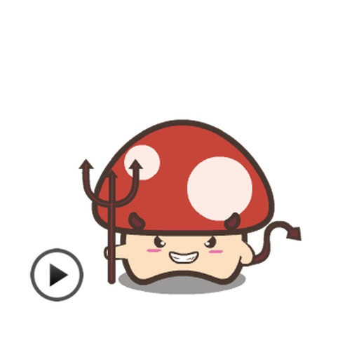 Animated Cute Mushroom Stickers