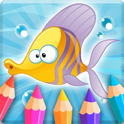 Colorful Diary: Fish Coloring