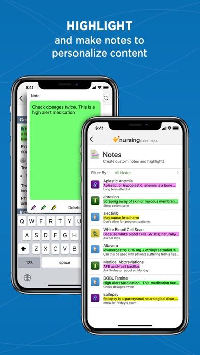 Nursing Central review screenshots