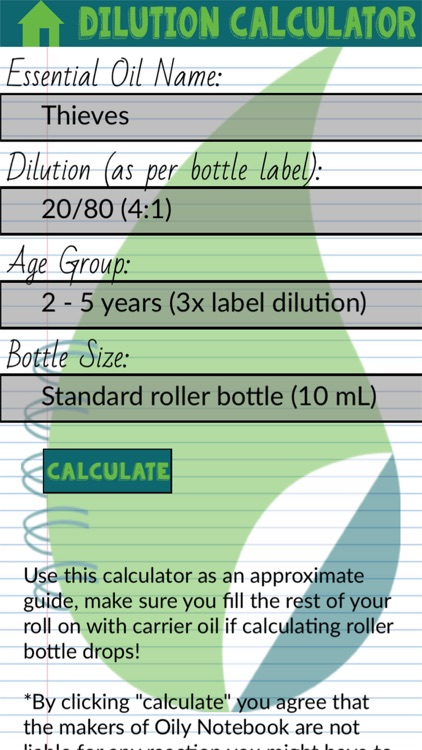 Oil Dilution Calculator