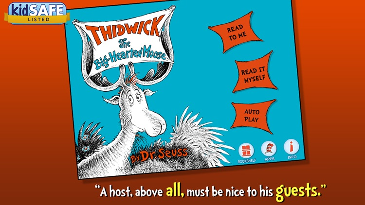 Thidwick the Big-Hearted Moose - Dr. Seuss screenshot-0