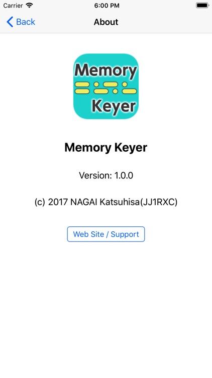 Memory Keyer