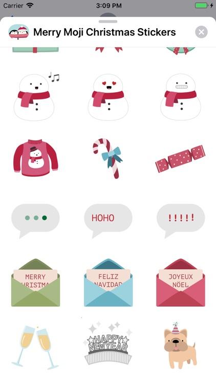 Merry Moji Christmas Stickers screenshot-4