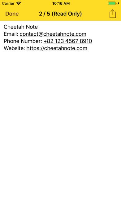Cheetah Note Pro Screenshot
