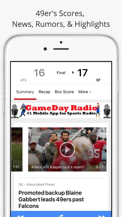 San Francisco GameDay Radio for 49ers Giants screenshot-3