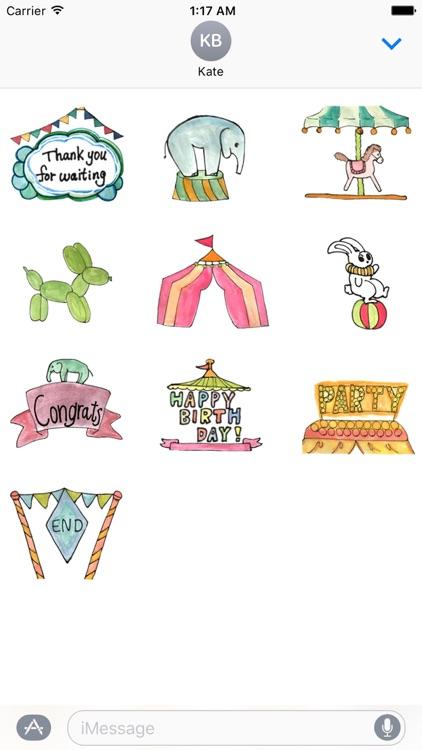Happy Circus Sticker