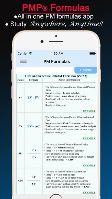 Pmp formulas   app price drops.