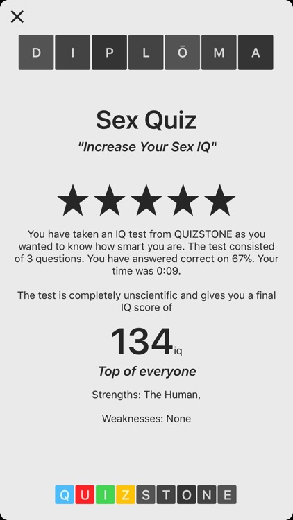 Quizzes about sex
