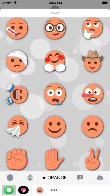 ORANGE Emoji • Stickers screenshot-4