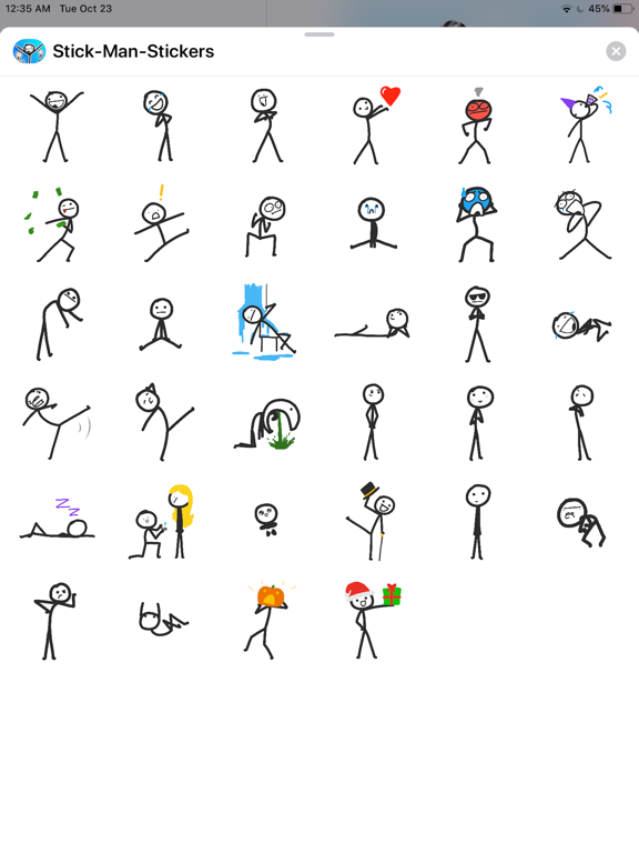 Stick Man Stickers Pack screenshot 4