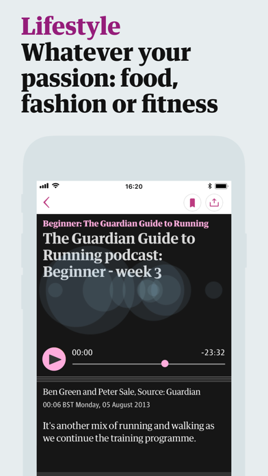Screenshot 4 for The Guardian's iPhone app'
