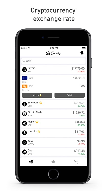 Coinsy - cryptocurrency rates screenshot-0