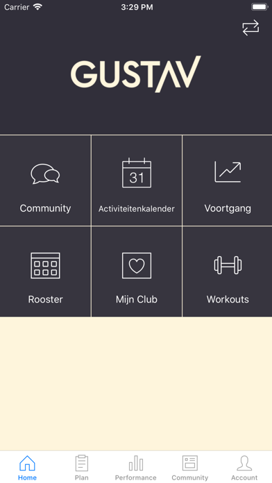 Gustav Gym App screenshot one