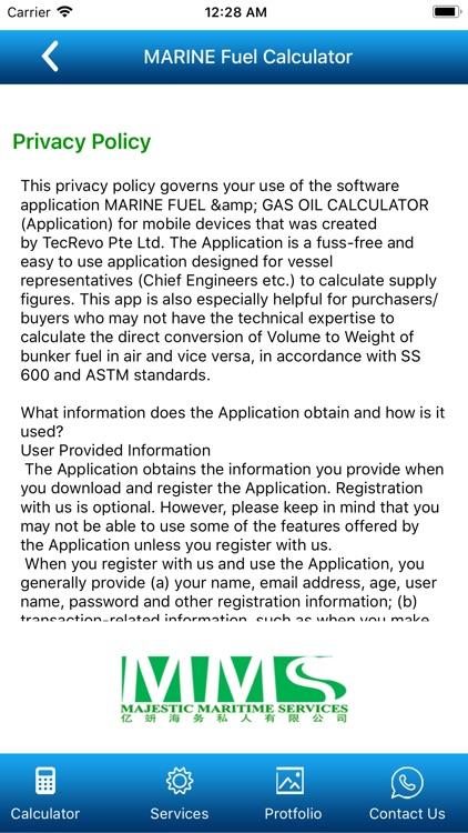 Bunker Fuel Calculator screenshot-5
