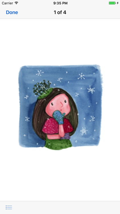 Pretty Girl in Winter Sticker