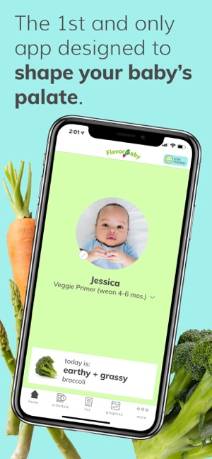 First App Designed to help Moms shape their Babies' Palates Image