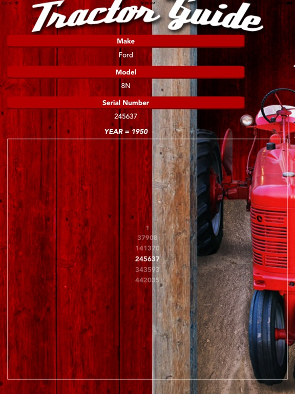 Tractor Guide iPad