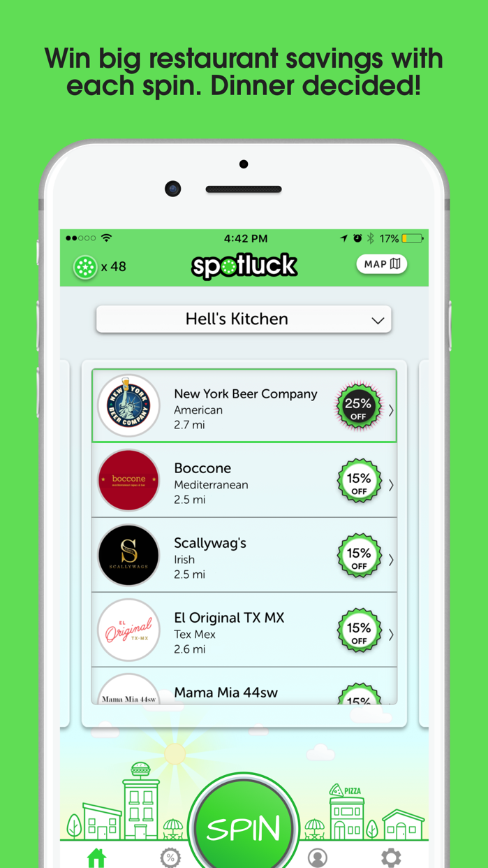 Spotluck - Spin. Eat. Save. Screenshot