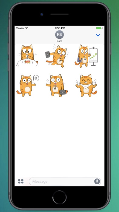 Screenshot for Talking Kitty Stickers in Colombia App Store
